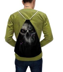 """Рюкзак-мешок с полной запечаткой """"Череп-ашка"""" - череп, черепа, скелет"""