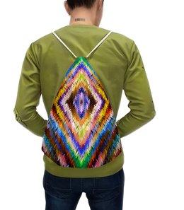 """Рюкзак с полной запечаткой """"Ромбы"""" - узор, цветные, ромбы, вязание, вязаный"""