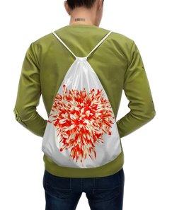 """Рюкзак с полной запечаткой """"Цветочный взрыв"""" - сердце, цветы, букет, хризантемы, красные цветы"""