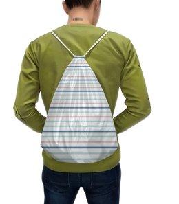 """Рюкзак с полной запечаткой """"Полосатый шик"""" - полоска, пастель, кантри, экостиль, шебби-шик"""