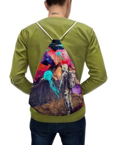 """Рюкзак с полной запечаткой """"Фантастический ландшафт"""" - арт, space, абстракция, космонавт, пространство"""