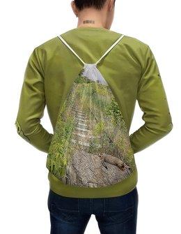 """Рюкзак-мешок с полной запечаткой """"Путь."""" - кот, дорога, путь, железная дорога, рельсы"""