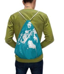 """Рюкзак с полной запечаткой """"Боб Марли"""" - музыка, регги, ямайка, гитарист, исполнитель"""