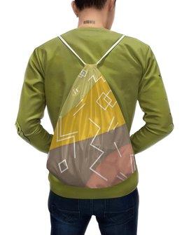 """Рюкзак-мешок с полной запечаткой """"Графическая абстракция."""" - радуга, фигура, графика, абстракция, искусство"""