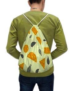 """Рюкзак с полной запечаткой """"Мышь и сыр"""" - животные, мышь, сыр, мыши, крысы"""