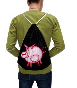 """Рюкзак с полной запечаткой """"Розовый поросенок"""" - арт, счастье, малыш, свин, розовый поросенок"""
