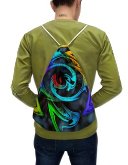 """Рюкзак-мешок с полной запечаткой """"Узор красок"""" - цветы, космос, пятна, краски, абстракция"""
