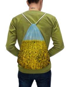 """Рюкзак с полной запечаткой """"Цветущее поле"""" - природа, пейжаз, цветы, поле, луг"""