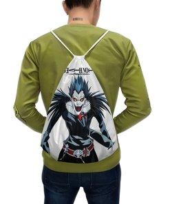 """Рюкзак-мешок с полной запечаткой """"Тетрадь смерти"""" - аниме, манга, death note, тетрадь смерти, рюк"""
