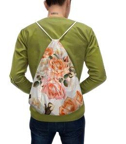 """Рюкзак с полной запечаткой """"Чайная роза"""" - розы, цветы"""