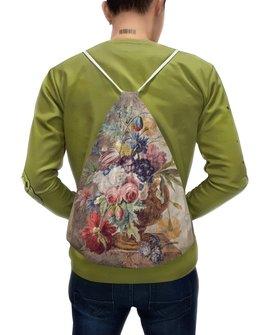 "Рюкзак-мешок с полной запечаткой ""Цветочный натюрморт (Ян ван Хёйсум)"" - цветы, картина, живопись, натюрморт, ян ван хёйсум"
