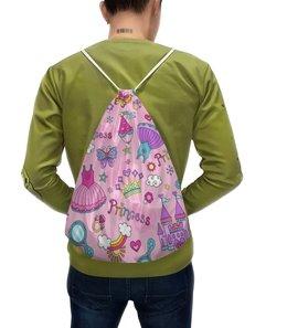 """Рюкзак-мешок с полной запечаткой """"Принцесса"""" - принцесса"""
