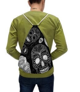 """Рюкзак с полной запечаткой """"Черепа"""" - черепа, арнаменты, рок, череп"""