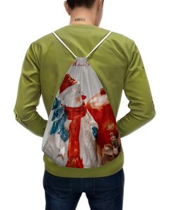 """Рюкзак с полной запечаткой """"Снеговик"""" - праздник, снеговик, шишка, елка, новыйгод"""