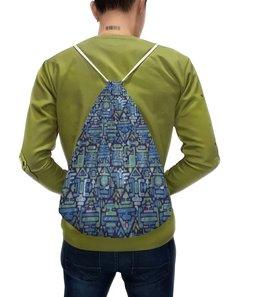"""Рюкзак с полной запечаткой """"Символы"""" - узор, знаки, символы, иероглифы, стрелки"""