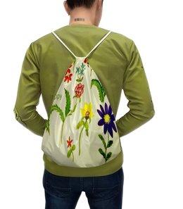 """Рюкзак-мешок с полной запечаткой """"Цветы тропиков"""" - лето, цветы, природа, цвести"""