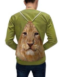 """Рюкзак с полной запечаткой """"Львенок"""" - лев, масло, живопись, ребенок, львенок"""