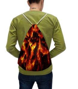 """Рюкзак с полной запечаткой """"Костер"""" - огонь, костер, пламя, угли, огненный"""