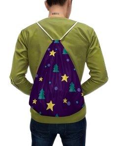"""Рюкзак с полной запечаткой """"Мешок Деда Мороза"""" - новый год, звезды, дед мороз, елочка"""