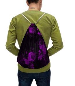 """Рюкзак с полной запечаткой """"Брызги красок"""" - узор, фиолетовый, пятна, краски, цветные"""