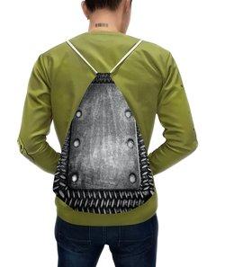 """Рюкзак-мешок с полной запечаткой """"броник"""" - броня, сталь"""
