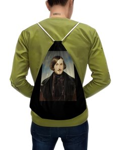 """Рюкзак с полной запечаткой """"Николай Гоголь (портрет работы Фёдора Моллера)"""" - картина, гоголь, моллер"""