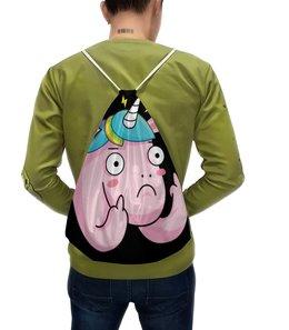 """Рюкзак с полной запечаткой """"Unicorn / Единорог """" - дизайн, графика, unicorn, иллюстрация, единорог"""