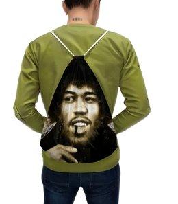 """Рюкзак с полной запечаткой """"Джими Хендрикс"""" - музыка, рок, музыкант, певец, гитарист"""