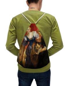 """Рюкзак с полной запечаткой """"Юдифь с головой Олоферна (Рубенс)"""" - картина, рубенс"""