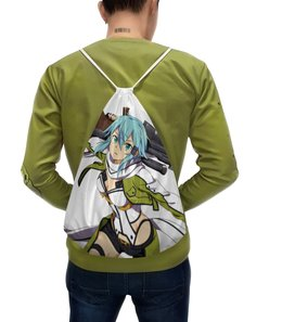 """Рюкзак-мешок с полной запечаткой """"Синон. Sword Art Online """" - аниме, sword art online, девушки аниме, мастер меча онлайн, синон"""