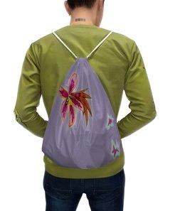 """Рюкзак-мешок с полной запечаткой """"Осень пришла..."""" - цветы, листья, осень, желтые листья"""
