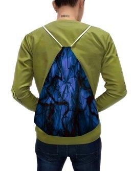 "Рюкзак-мешок с полной запечаткой ""Краски"" - узор, космос, краски, абстракция, молния"