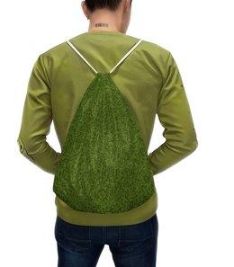 """Рюкзак-мешок с полной запечаткой """"Зеленый друг"""" - зелень, квадрат, трава, grass"""