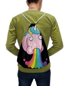 """Рюкзак с полной запечаткой """"Unicorn / Единорог """" - графика, unicorn, иллюстрация, единорог"""