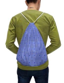 """Рюкзак-мешок с полной запечаткой """"Двусторонняя оптическая иллюзия """"цветок папируса"""""""" - орнамент, абстракция, геометрия, иллюзия"""