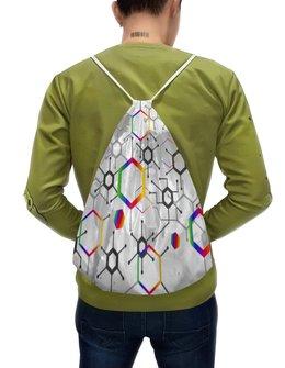 """Рюкзак-мешок с полной запечаткой """"Формула"""" - узор, текстура, формула, химия, молекулы"""