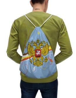 """Рюкзак-мешок с полной запечаткой """"Россия"""" - цветы, россия, герб, орел, хохлома"""