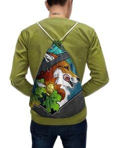 """Рюкзак-мешок с полной запечаткой """"Witch fox"""" - ведьма, fox, лиса, witch, магия"""