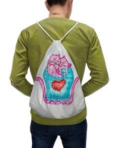 """Рюкзак-мешок с полной запечаткой """"Котики"""" - любовь, счастье, нежность, котики, любить"""
