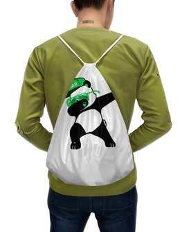 """Рюкзак-мешок с полной запечаткой """"Dab Panda """" - животные, панда, panda, дэб, dab"""