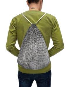 """Рюкзак с полной запечаткой """"Связка"""" - узор, серый, подарок, мягкий, вязанный"""