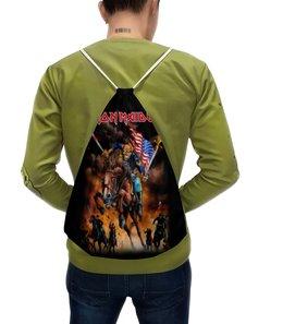 "Рюкзак с полной запечаткой ""Iron Maiden"" - iron maiden, музыка, метал, группы, heavy metal"