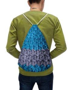 """Рюкзак с полной запечаткой """"Снежок..."""" - новый год, синий, природа, снежок, мягкий"""