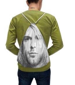 """Рюкзак с полной запечаткой """"Курт Кобейн """" - нирвана, nirvana, рок, музыка, музыкант"""
