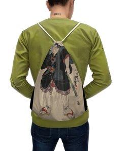 """Рюкзак с полной запечаткой """"Борец сумо (Утагава Кунисада)"""" - картина, утагава кунисада, живопись, сумо"""