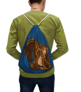 """Рюкзак с полной запечаткой """"Девушка и лошадь"""" - девушка, лошадь"""