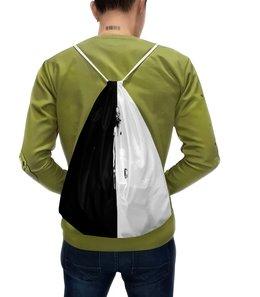 """Рюкзак-мешок с полной запечаткой """"Киллер"""" - рисунок, черно-белые, оружие, убийца, киллер"""