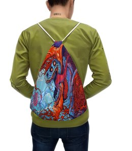 """Рюкзак с полной запечаткой """"Зверь"""" - зверь, монстр, краски, игры, рисунок"""