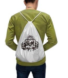 """Рюкзак с полной запечаткой """"Будда (Акустика)"""" - музыка, волны, будда, буддизм, акустика"""
