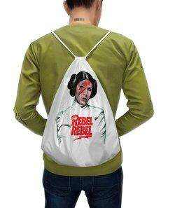 """Рюкзак-мешок с полной запечаткой """"Лея Органа"""" - лея органа, leia organa solo, лея органа-соло, кэрри фишер"""